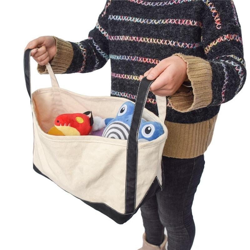 Foldable Shopping Bag Reusable Eco Large Unisex Fabric Tote Grocery Cloth Toy Clothes Storage Bags Pouch