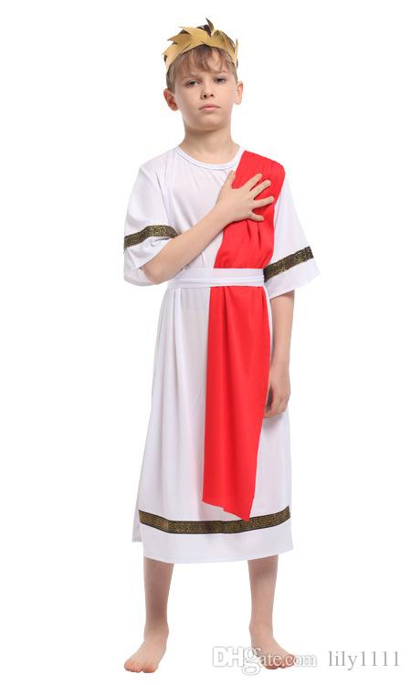 Shanghai Story Kids Roman Centurian Costume Boys Roman Costume Kids For Halloween Carnival Masquerade Party Performance Costumes