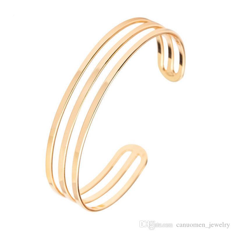 Femmes Ouvert Réglable Plaqué Argent Large Manchette Bracelet jonc Bracelet Bijoux