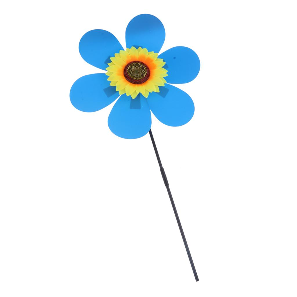 Colorful Hot 3D Sun Flower Windmill Wind Spinner Garden Decor