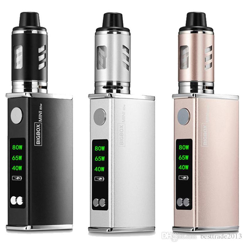 Electronic Cigarette 80W Adjustable vape mod box kit 2200mah 0.3ohm 3ml tank e-cigarette Big smoke atomizer vaper