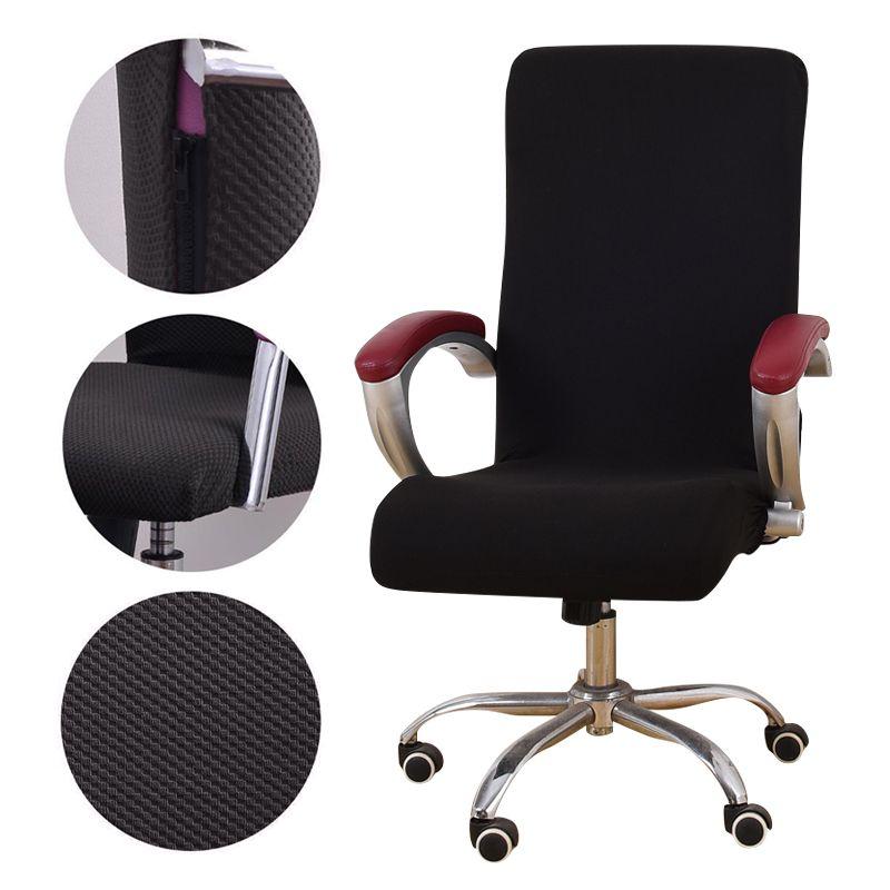 Oficina tejido jacquard universal de silla de la cubierta del ordenador sillón elástica Fundas asiento de silla del brazo giratorio de elevación Cubiertas estiramiento