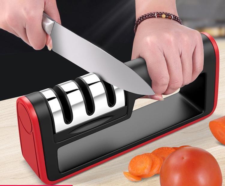 Cuchillos Máquina Afiladora De Acero Inoxidable Profesional de la Cocina Sacapuntas para un Cuchillo Afilar Herramientas de Cocina Artículos de Accesorios DH0552
