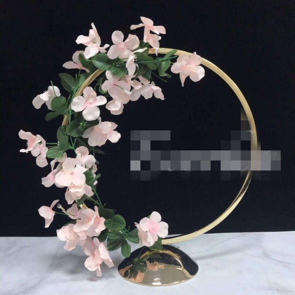 Yeni yüksek büyük altın boyalı düğün ağacı centerpieces düğün masa dekorasyon için toptan best1233