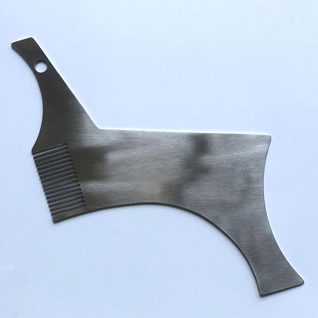 Portable Beard Shaping Ruler Shaper Stencil Moustache Trim Comb Shaving Tool