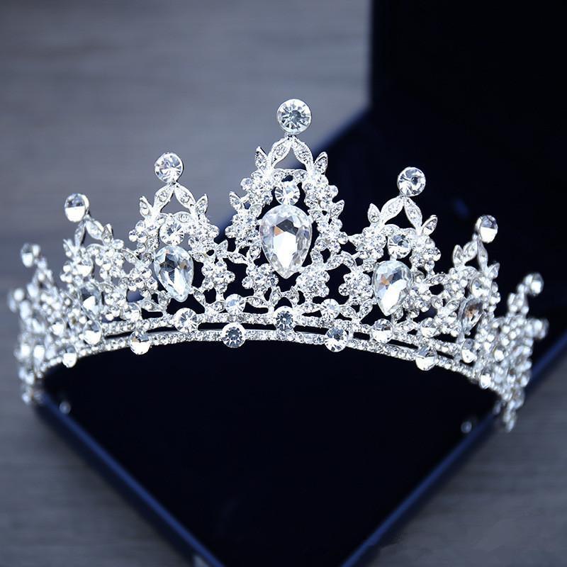 Игристое волос повязка Корона Кристалл Rhinestone Украшенный свадебный венец Новой невесты заставки Топ Продажа ювелирных изделий Глава Диадемы Аксессуары M65