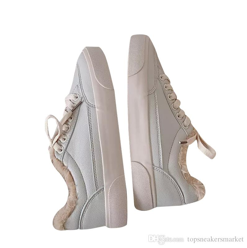 Fashion Designer Women Casual Shoes Triple White Leather Flats Womens Designer Trainers Sports Sneakers Size 35-40 08