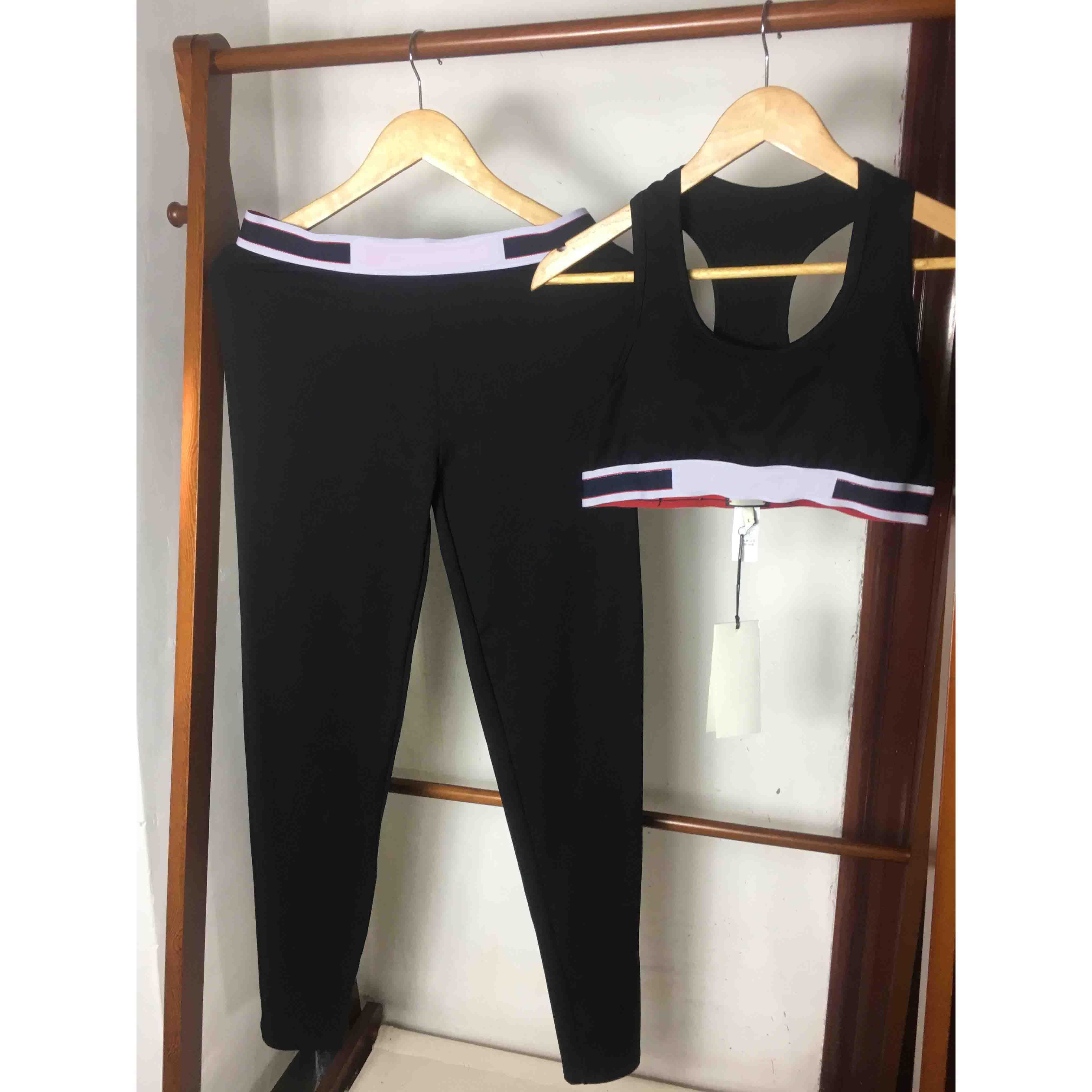 Frauen Designer-Yoga-Anzüge Luxus Letters String Vest Sweatpant Außenwerbung Marke Frauen zwei Stücke Outfits feste Gamaschen Womans Tracksuits