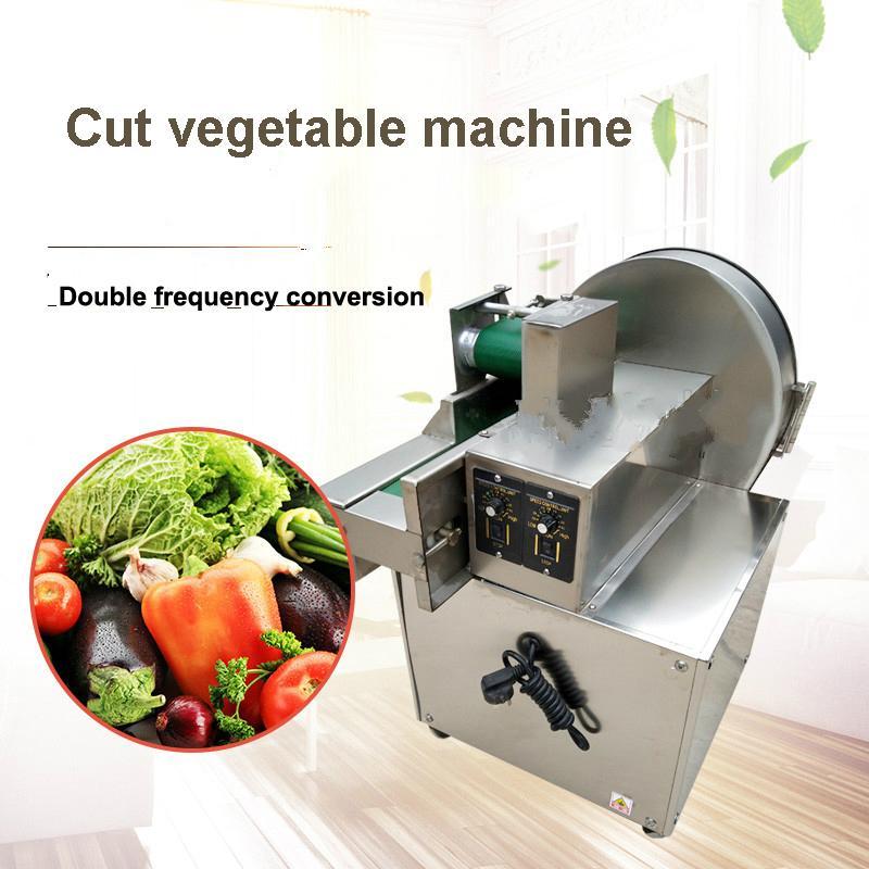 Alimentation électrique Machine de découpage de légumes oignon nourriture Cutter Slicer Chou Chilli poireau Scallion Céleri Scallion Machine de découpe commerciale mul