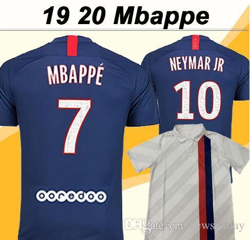 19 20 NEYMAR JR MBAPPE Mens Soccer Jerseys CAVANI Football Shirts DI MARIA T. SILVA VERRATTI Short Sleeves Maillot de Foot