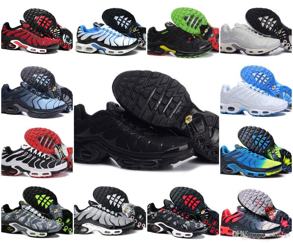 Venta al por mayor 2019 TN MÁS Hombre Zapatillas de deporte originales de la manera Ventas del AIRE del aire de las ventas de calidad SUPERIOR Barato Francia BASKET TN REQUIN ChauSSures Tamaño 40-46