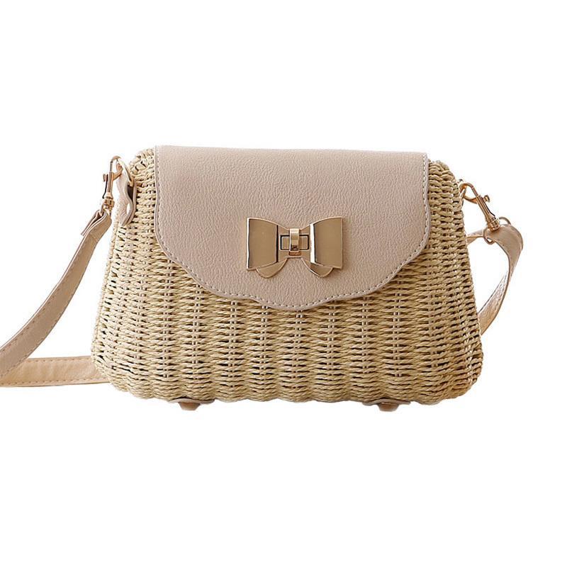 Women Straw Bag Female Bohemian Bali Rattan Beach Shoulder Bag Lady Handmade Candy Color Crossbody Bags Basket Bolsa Ss3148 Y19061204