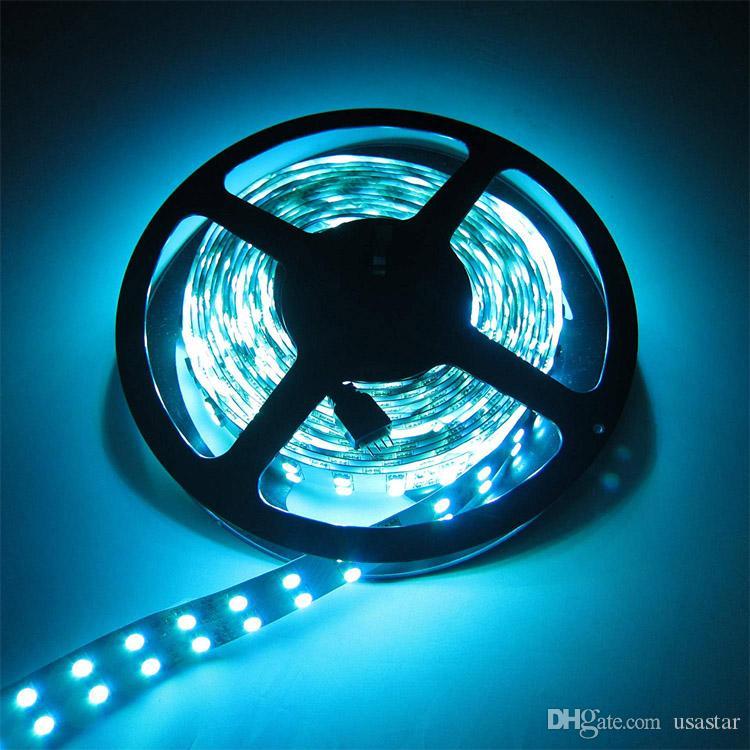 De dos hileras de 5050 SMD los 5M 600leds RGB tira flexible del LED Luces de la cuerda de cinta 120leds / M 600leds / roll enciende la luz 12V impermeable