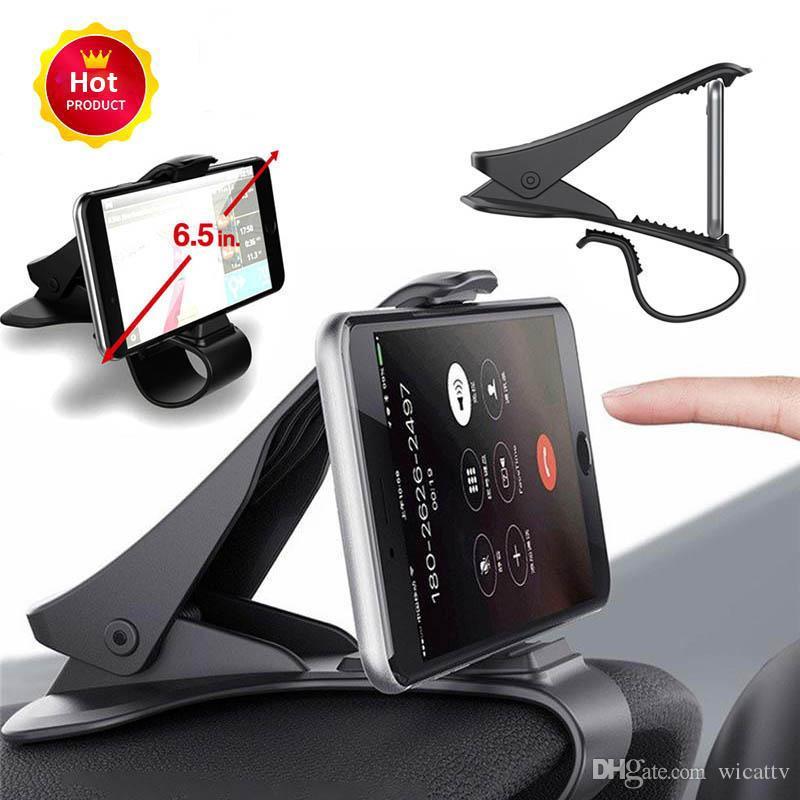 6.5inch ashboard Araç Telefonu Tutucu Kolay Klip Dağı Standı Araç Telefonu Tutucu GPS Ekran Parantez Klasik Siyah Araç Tutucu Destek