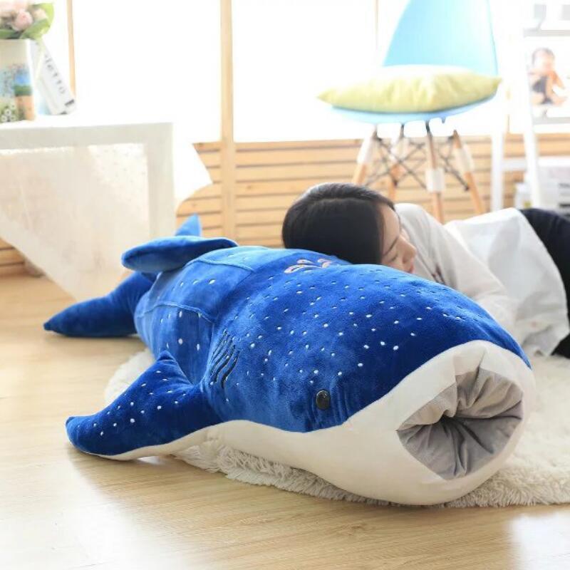 50 / 100см Новый Стиль Голубая акула Плюшевые игрушки Big Fish ткань кукла Whale чучела плюшевые животные кукла Дети День рождения Подарки