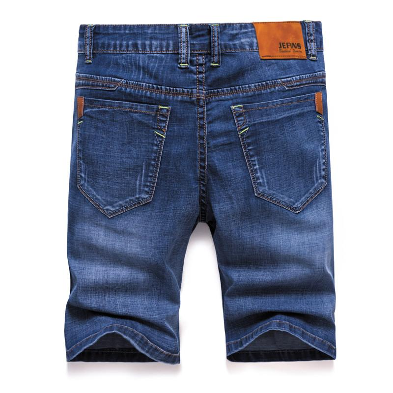 2019 Марка Mens лета Stretch Thin качество денима джинсы мужские Короткие Мужчины синий Denim Jean шорты брюки большой размер 40 42 новый