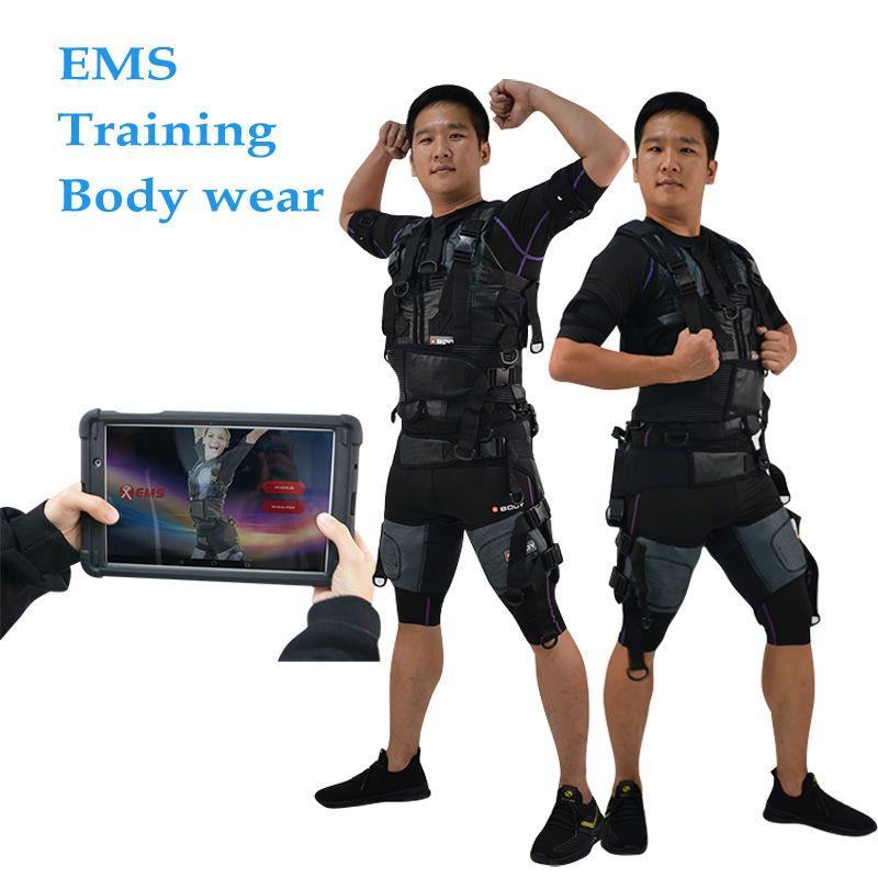Нового продукт Эмс портативных мышц стимулятор беспроводной EMS Обучение костюм фитнес тренажерный зал машина