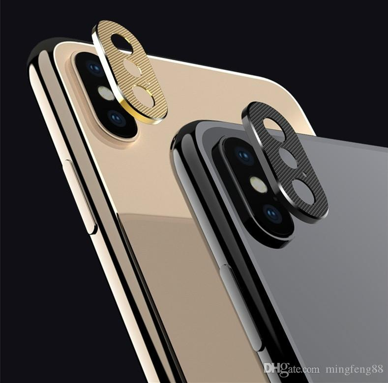 new styles d4fac da23c Phone Camera Guard Circle Metal Lens Protector Case Camera Cover For IPhone  XS Max/XS/XR/X/8/8P/7/7P/6S/6SP/6/6P Bumper Phone Case Phone Bumpers From  ...