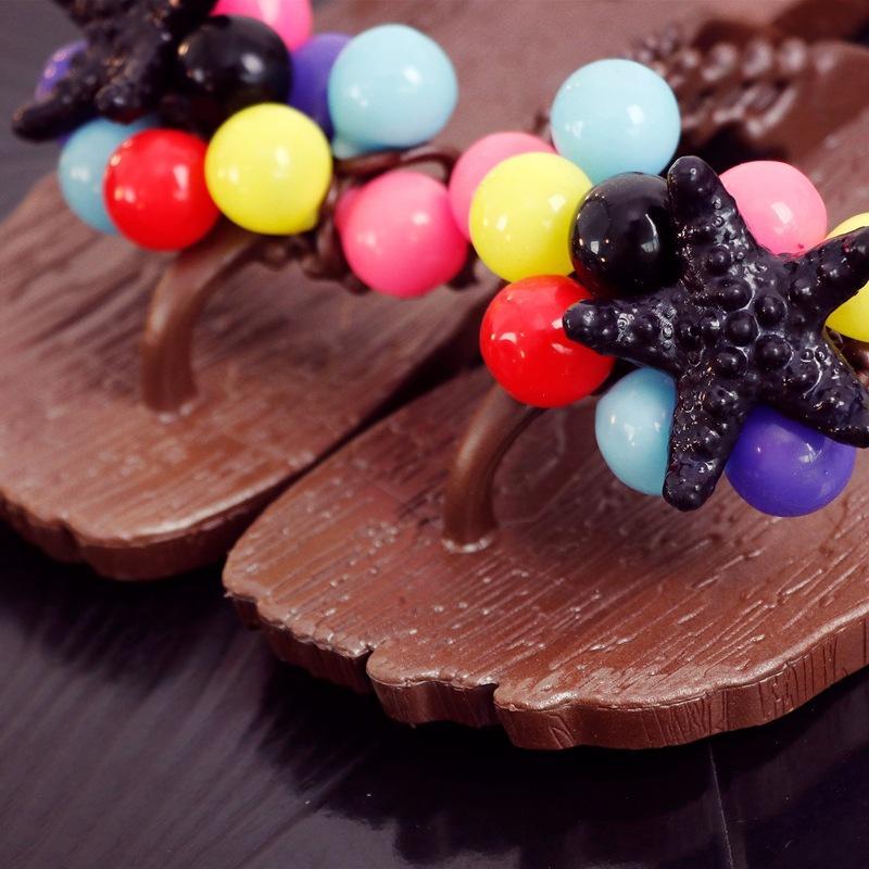 Coreano moda verão novo estilo Praia Flip Flop chinelos de uva fundo plano antiderrapante banho de estudante