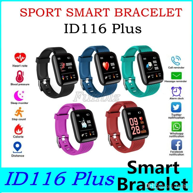 For apple watch Color Screen ID116 Plus Smart Bracelet Fitness Tracker 116 Plus Band Heart Rate Smart Wristband Cheapest