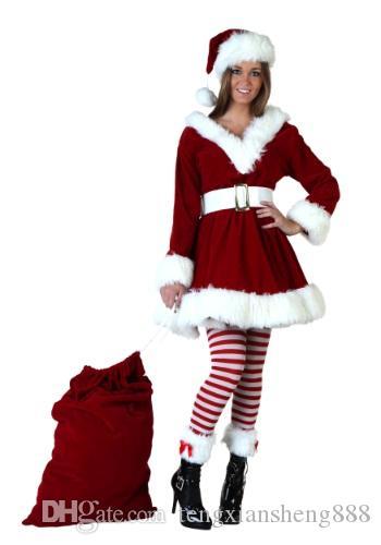 Costume di Santa delle signore delle donne di Miss Claus operato dal partito di Natale Outfit S3313