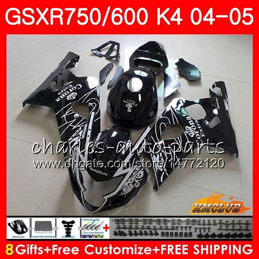 Bodys For Suzuki GSXR 750 GSX R600 R750 Zwart Sale Hot GSXR600 2004 2005 7HC.31 GSXR 600 GSXR-750 04 05 GSX-R600 K4 GSXR750 04 05 Valerijen