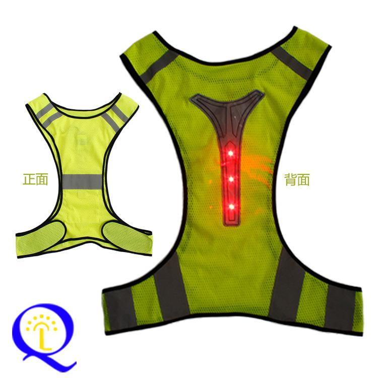 Sports High Vis Safety LED Glowing Vest Belts Night Running Cycling Tank Tops UK