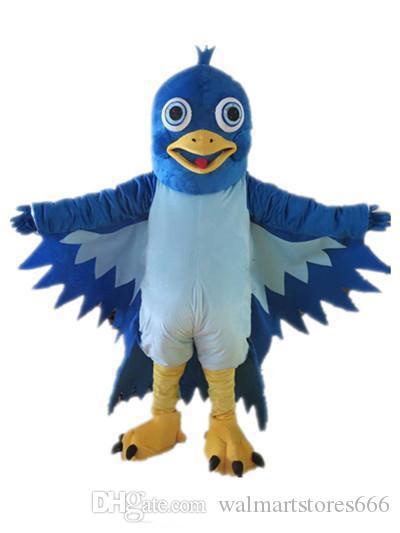 2019 costume de mascotte d'oiseau bleu grande bouche bleue EVA en peluche taille adulte de bande dessinée vêtements