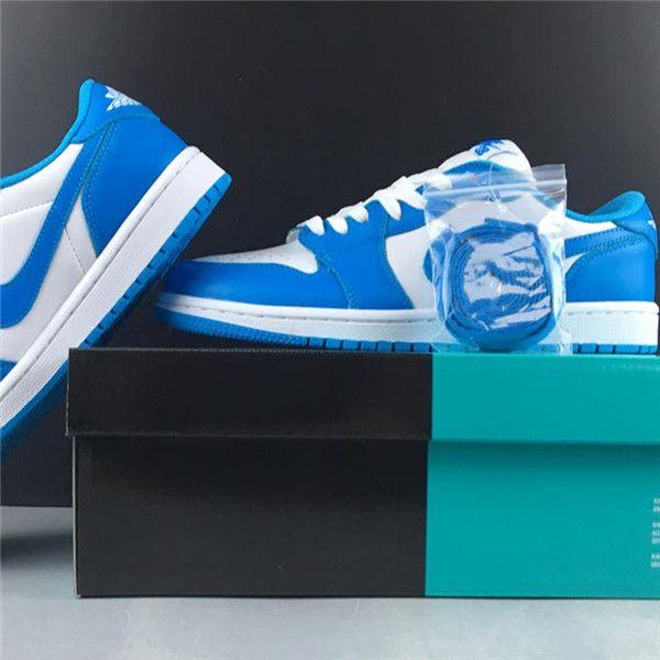 Hot Sale 1 x SB Dunk Low QS Womens Mens Skateboard Shoes Blue White UNC Designer Sport Sneakers Casual Baskets Trainers des chaussures