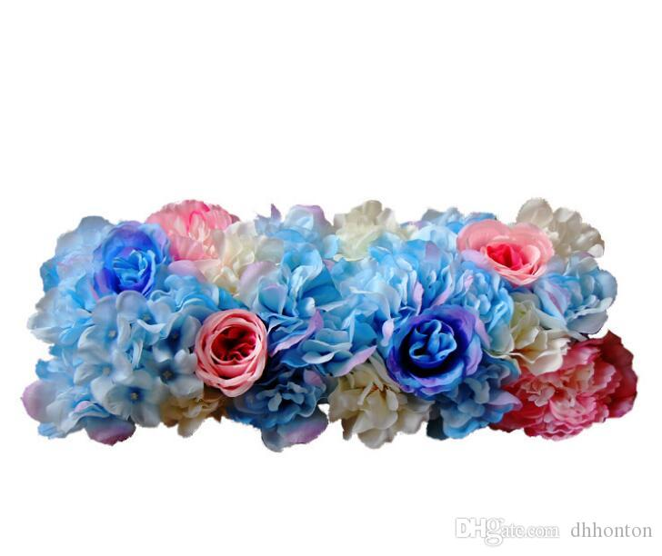 Artificial flower wall wedding stage decorations Korean road flowers artificial flowers slices mix colors or customized