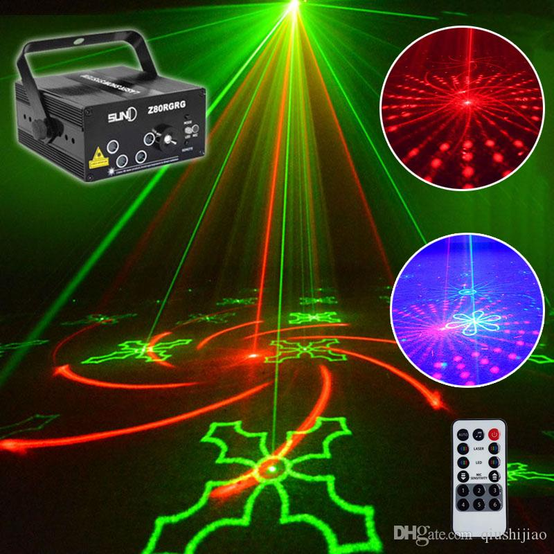 5 obiettivi 80 modelli RG RB proiettore laser luce rosso verde blu LED Stage Lighting DJ Disco Bar Show Home Party professionale Xmas Light