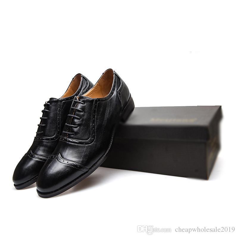 Scarpe oxford in pelle per uomo Scarpe eleganti Scarpe da uomo in metallo con punta ruvida antiscivolo su scarpa paty Scarpe formali da uomo per ufficio