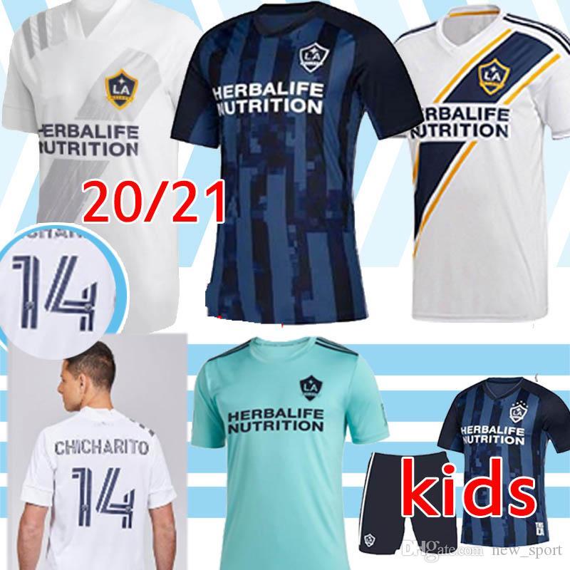 20 21 Chicharito LA Galaxy Camisas de futebol 2019 IBRAHIMOVI Galáxia de Los Angeles GERRARD BECKHAM kitHomens Crianças LAFC VELA Camisolas