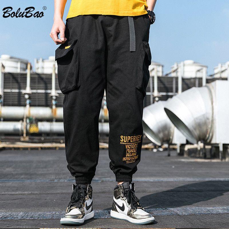 BOLUBAO Frühlings-neuer Mann-beiläufige Hosen Herrenmode Trend Wilde Hose High Street Multi-Pocket-Cargo-Hosen-Mann-Marken-Kleidung
