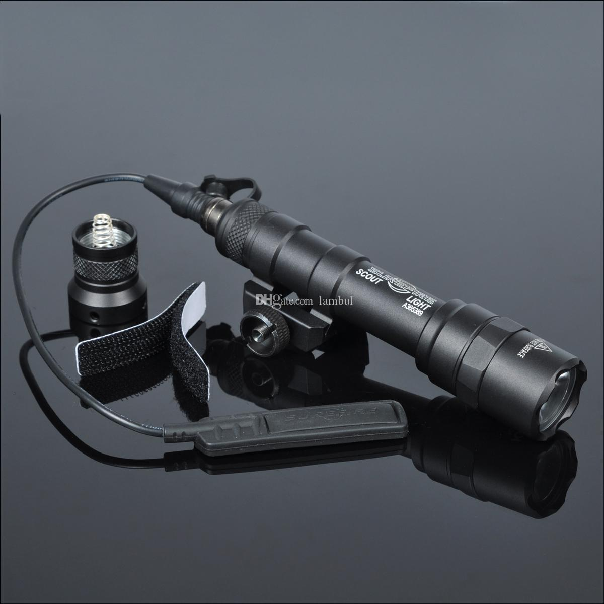 400 لومينز التكتيكي SF M600B الكشفية ضوء الفانوس الادسنس مضيا الصيد Keymod Picatinny السكك الحديدية جبل بندقية الضوء
