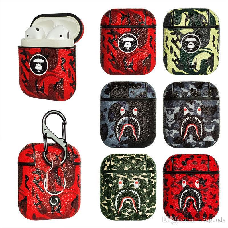 INS Étui en cuir Pour Airpods Protective Wireless Casque Bluetooth Accessoires Boîte Charging Ecouteur Sac 6 stlyes