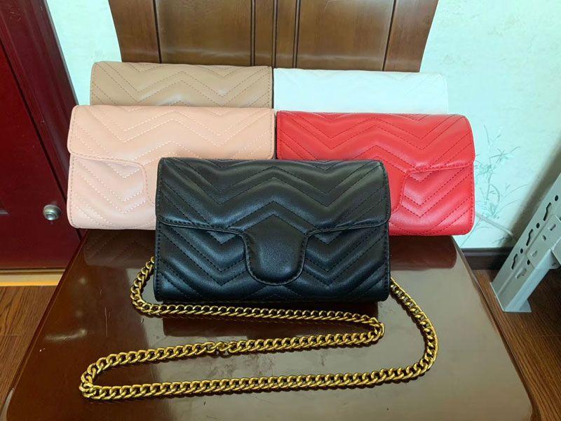 22CM Bolsas de Ombro Handbag lazer Mulheres Moda Bolsas senhoras Crossbody Bag Sacos de algodão PU de couro cadeia de Bolsas