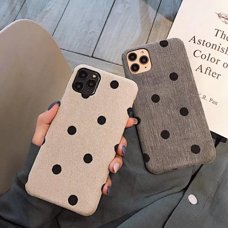 Moda panno Texture punto dell'onda della cassa del telefono per Iphone 11 Pro Max 6 6s 7 8 Plus X Xs Xs Xr Max caldo morbido Pu Fundas copertina