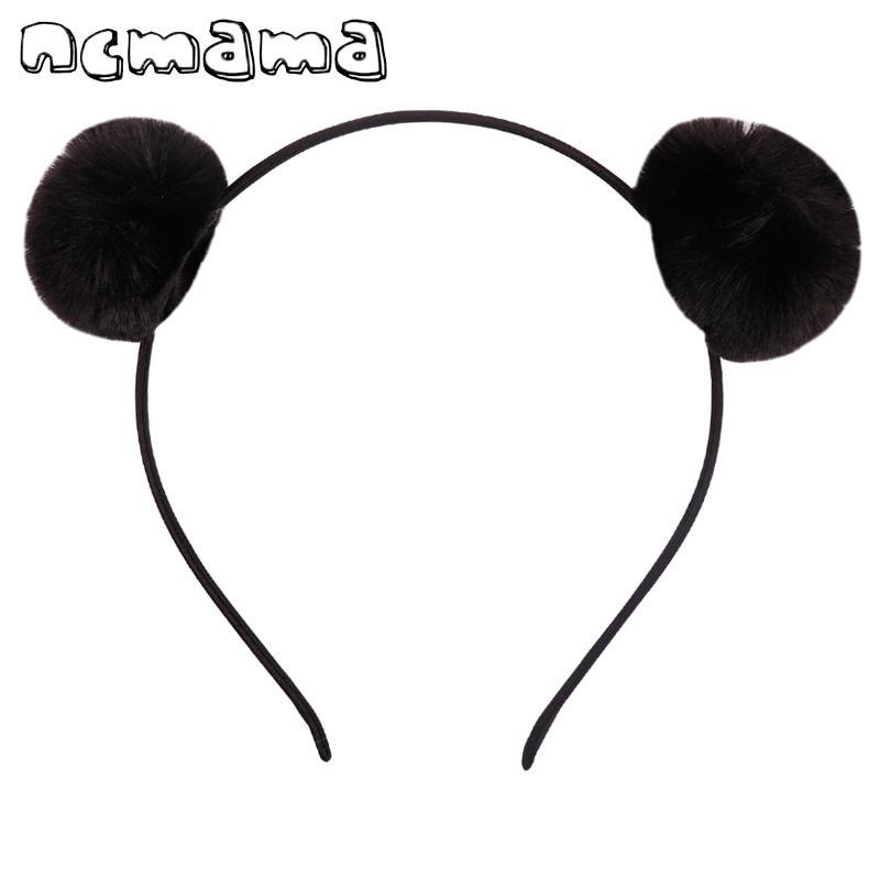 Güzel Ponpon Hairband Tavşan Peluş Saç Top Bandı Kulakları Çocuklar Için Elastik Saç Çember Saç Aksesuarları C19021601
