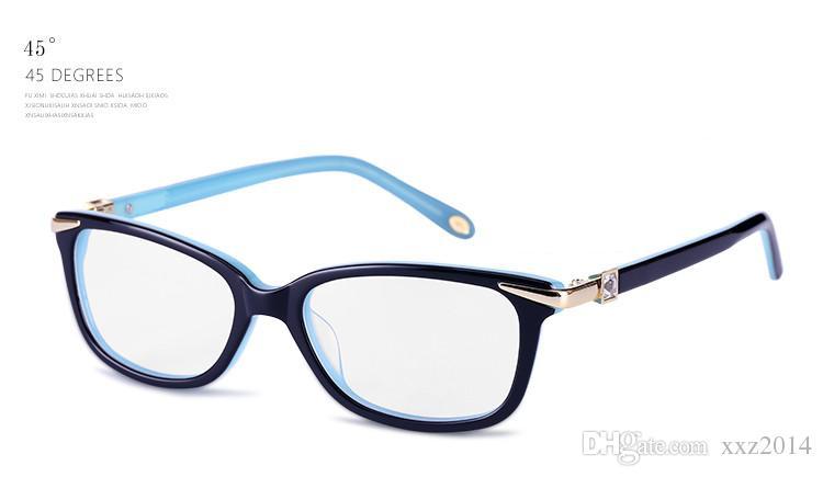 جديد TF2060 النظارات الإطار eleglant جودة الإناث الاصطناعي الماس معبد نقية لوح وصفة galssses 52-17-140 مجموعة