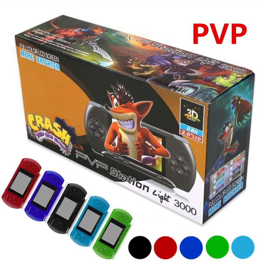 PVP3000 게임 플레이어 PVP 스테이션 라이트 3000 (8 비트) LCD 화면 핸드 헬드 비디오 게임 플레이어 콘솔 SUP PXP3 미니 휴대용 게임 박스