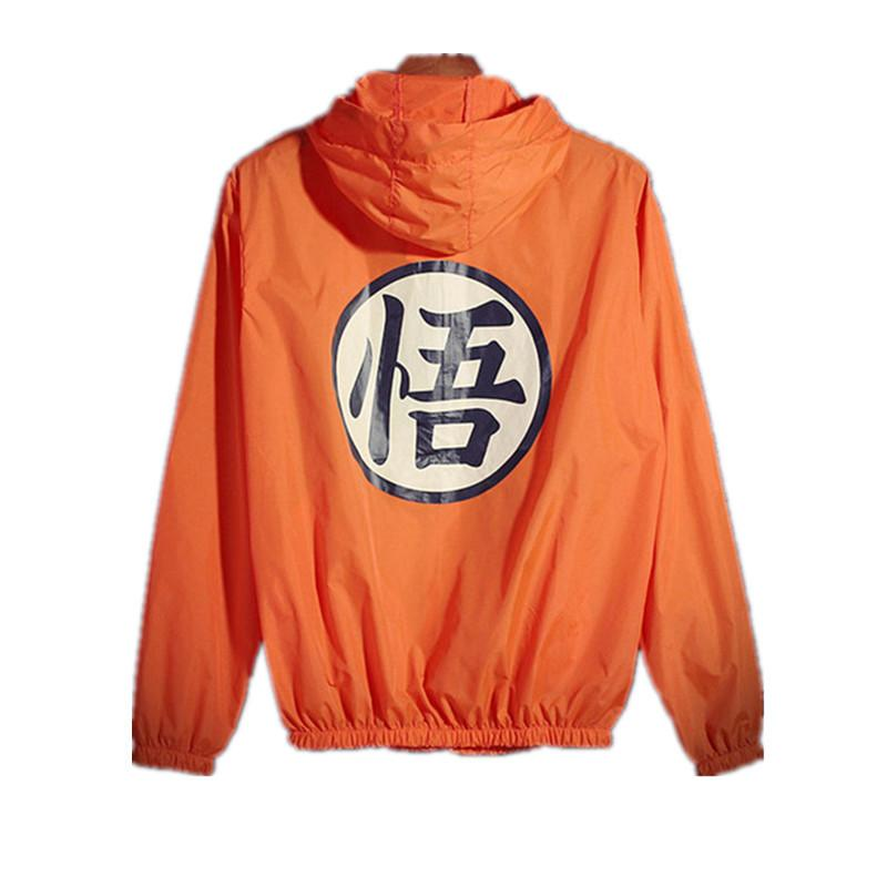Anime Dragon Ball İnce Güneş Koruma Kapşonlu WINDBREAKER Unisex Hip Hop Cosplay Mens yaz ceketler Jaqueta Masculina A60707 T200520