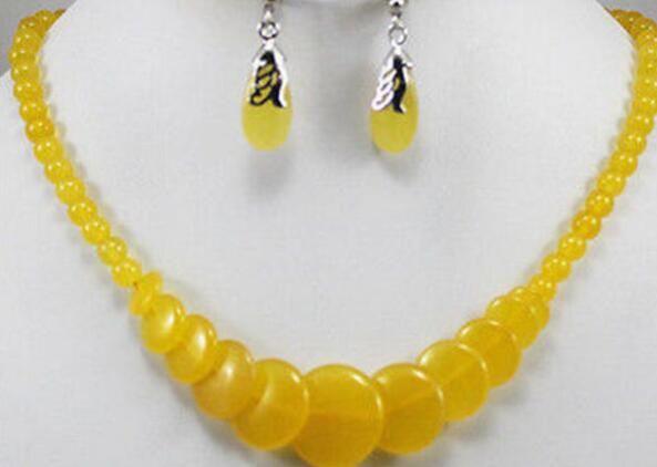 Boutique en ligne a3569 f2e22 Compre ENVÍO GRATIS + + Conjunto De Aretes De Piedra Amarilla Con Joyas  Naturales A $27.12 Del Dingyingying687889 | DHgate.Com