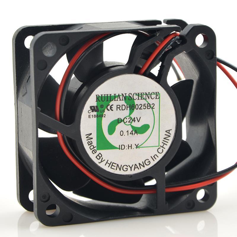 2lines RDH6025B2 24V 0.14A ventilador de refrigeración del inversor DC 24V 0.14A 6025 6cm 60 * 60 * 25m 2 cables