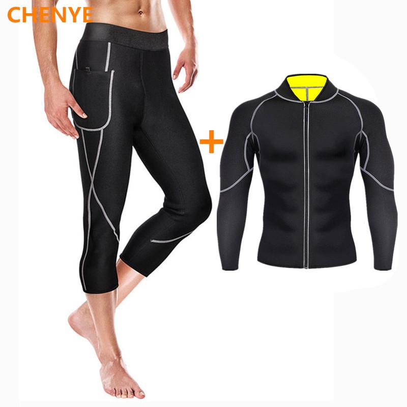 Men Slimming shirt Body Shaper Belly Control pants losing weight Compression Shirt Underwear Waist Trainer Corset shapewear set