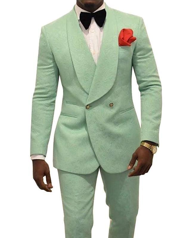 Herrenanzüge Blazer Casual Präge Bräutigam Herren Smoking für Männer Hochzeit Schal Revers Mann Blazer Prom Abendessen Anzug Jacke + Hosen