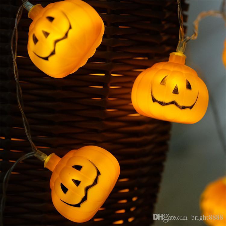 LED Fener Cadılar Bayramı el yapımı DIY kabak ışık dize pil ins tarzı dekoratif ışık dize