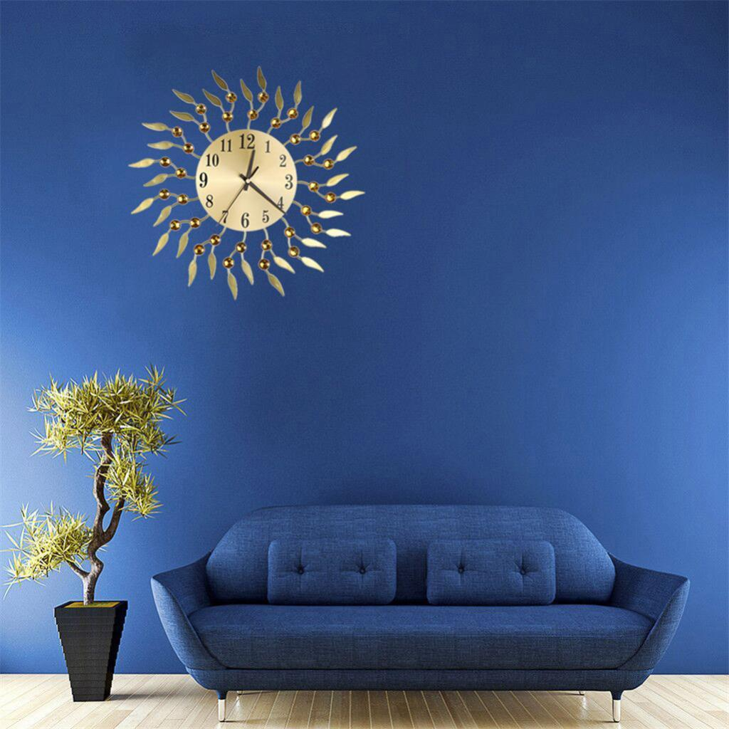 Uk Sun Spangle Shape Metal Wall Clock Luxury Style Clocks For Living Room Bedroom Office Space Decoration Modern Large Wall Clocks Modern Wall Clock From Gralara 31 45 Dhgate Com