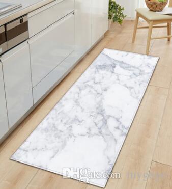 블랙 화이트 핑크 대리석 인쇄 입구 거실 부엌 욕실 매트에 대한 앞에서 바보 긴 바닥 매트 카펫