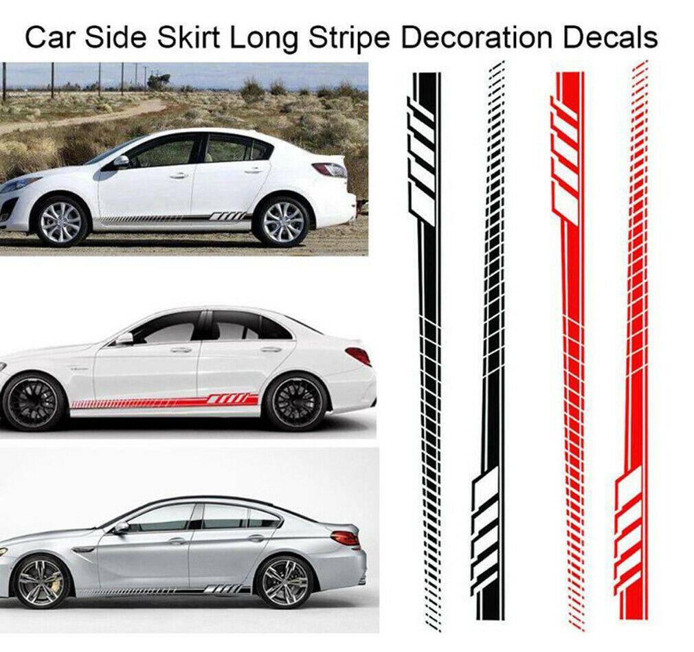Auto Vinyl Side Body Racing Decoration Flame Decal Sticker Car Long Stripe